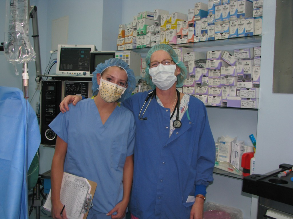 Dr. Mecklenburg and Katherine Stecher (Clinical Systems Department staff) in Guatemala